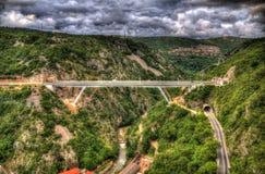 Motorway bridge and tunnels in Rijeka, Croatia stock photography