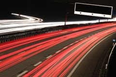 Motorway. Busy German motorway at night stock images