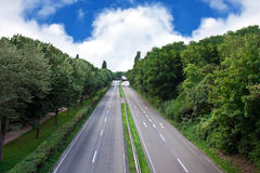 Motorway in the city. Motorway in a European city on a summer evening royalty free stock photo