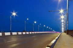Motorway city in the evening. Highway, speed royalty free stock images