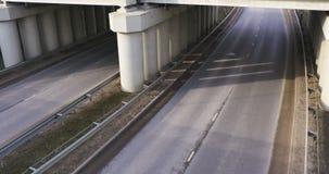 Motorway at day time, bridge. 4k stock video
