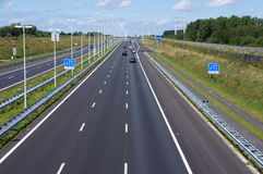 Motorway. The a4 motorway between Delft and Rotterdam in The Netherlands stock photos