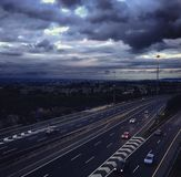 Motorway in Dublin. Motorway with Dublin city in the background royalty free stock image