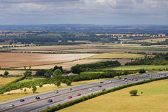 Motorway in an English landscape Stock Images