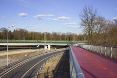 Motorway and FootBridge Royalty Free Stock Image