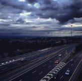 Motorway i Dublin Royaltyfri Bild