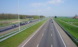 Motorway A4 i Nederländerna Royaltyfri Fotografi