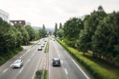 Motorway i Tyskland Arkivfoton