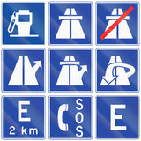 Motorway Information Signs in Chile Royalty Free Stock Image