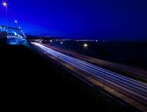 Motorway for Las Palmas at night Royalty Free Stock Photography