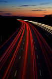Motorway light trails. On M4 royalty free stock photography