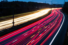Motorway long time exposure Stock Images