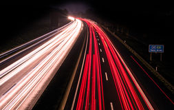 Motorway long time exposure Stock Photos