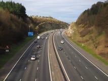 Motorway M40 Chilterns Stock Photo
