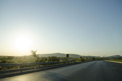 Motorway M1 Pakistan. M1 highway motorway road from Islamabad to Peshawar Royalty Free Stock Photo