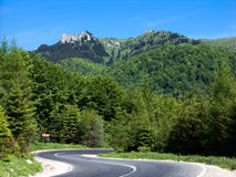Motorway in mountain landscape Stock Photo