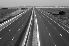 Motorway. New motorway with no vehicles on it royalty free stock photo