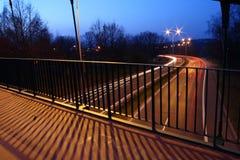 Motorway at night Royalty Free Stock Photos