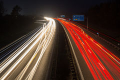 Motorway at night Stock Image
