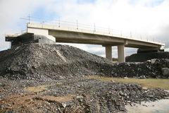 A motorway overbridge Royalty Free Stock Photography