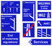 Motorway regulations signs. A collage of Motorway regulations signs Stock Images