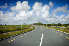 Motorway with road markings Royalty Free Stock Photo