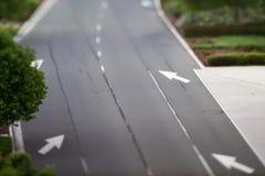 Motorway road sign markings during morning commute. Motorway road sign markings during  morning commute Stock Photos