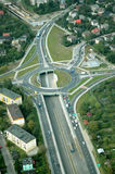 Motorway roundabout Stock Photos