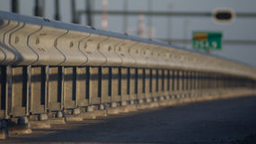 A motorway safety rail Royalty Free Stock Image