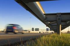 Motorway safety rail stock photo