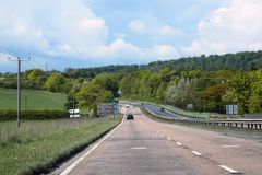 Motorway in Scotland. Traveling on the Motorway in Scotland, near edinburg stock photography