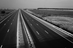 Motorway seen from above. New motorway seen from above royalty free stock photos