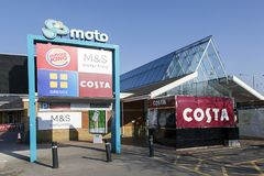 Motorway services on the M4 royalty free stock photography