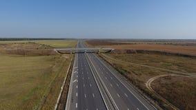 Motorway som ses från över royaltyfri foto