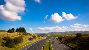 Motorway timelapse. M6 J37. Traffic, sky and clouds. Timelapse near M6, junction 37 stock video