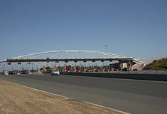 Motorway toll station on French highway Royalty Free Stock Image