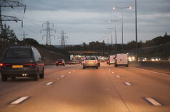 Motorway traffic Stock Photos