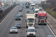 Motorway traffic Stock Images