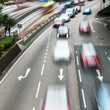 Motorway traffic in motion blur Royalty Free Stock Photography