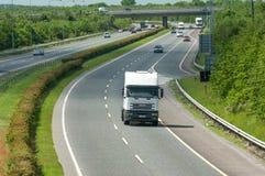 Motorway traffic. Naas, Ireland, June 11, 2005. Traffic on the N7 motorway Royalty Free Stock Photo