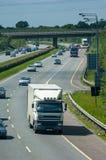 Motorway traffic. Naas, Ireland, June 11, 2005. Traffic on the N7 motorway Royalty Free Stock Image