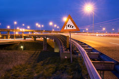motorway warning wind Στοκ φωτογραφία με δικαίωμα ελεύθερης χρήσης