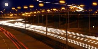 Motorwayljus Royaltyfria Bilder