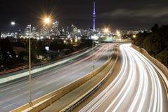 Motorwayljusslingor royaltyfri fotografi