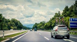 Motorwaylopp Royaltyfria Foton