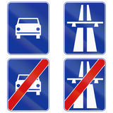Motorways And Fast Traffic Highways in Poland Royalty Free Stock Photos