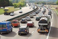 motorwaytrafik arkivfoto