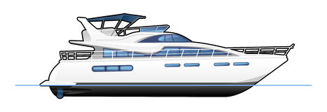 Motoryacht Royaltyfri Bild