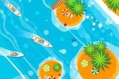 Motoryacht för bästa sikt Stranden vilar ferier för sommarterritorium för katya krasnodar semester tid att löpa royaltyfri illustrationer