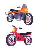 Motos aisladas en el fondo blanco, vector libre illustration